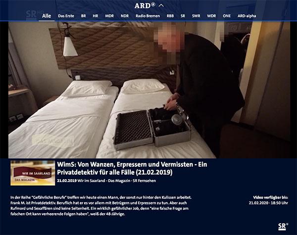WimS: Von Wanzen, Erpressern und Vermissten - Ein Privatdetektiv für alle Fälle - ManagerSOS Dtektiv
